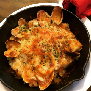 スペイン風魚介類のドリア
